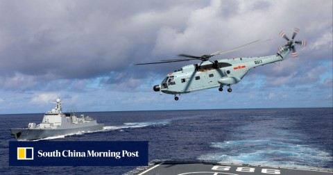 "Beijing says its air and naval forces will stage a ""routine"" military exercise near the Taiwan Strait in the coming days."
