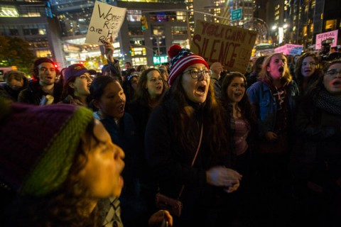 Protests to Trump's Election Spread Nationwide